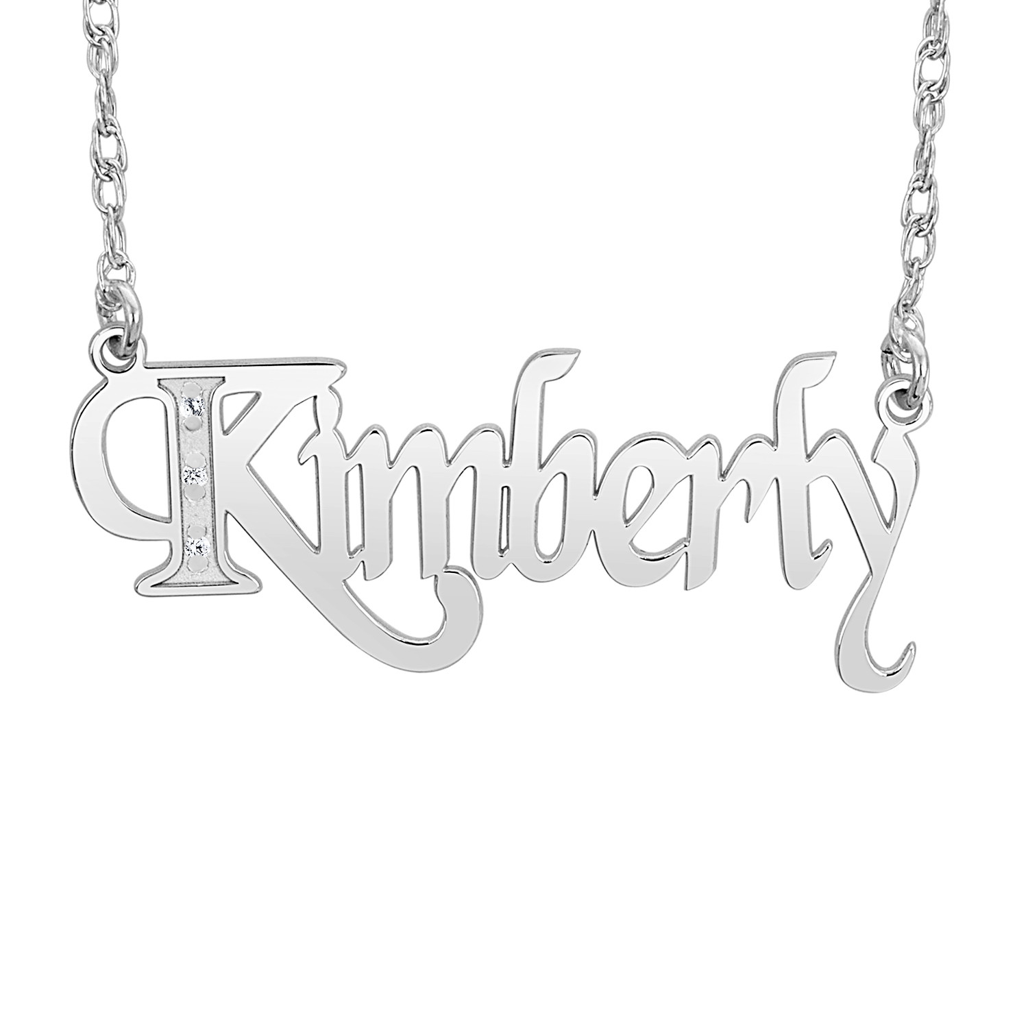 14 x 34mm Dia Accent Pers Necklace