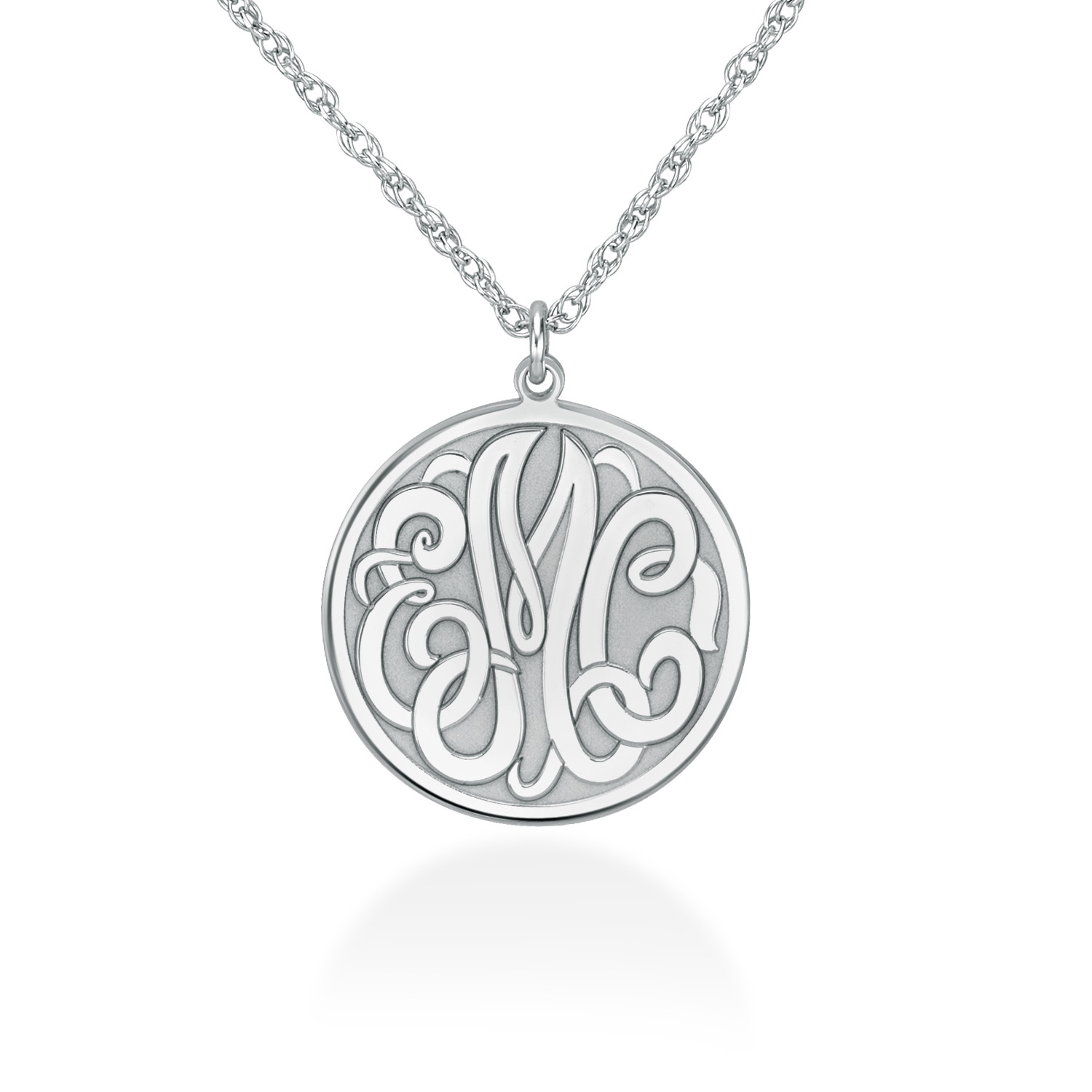 Family Necklace Triple  Initial  disks Monogram Charm Sterling silver You can make your choice Style of disks you want Mom/'s necklace