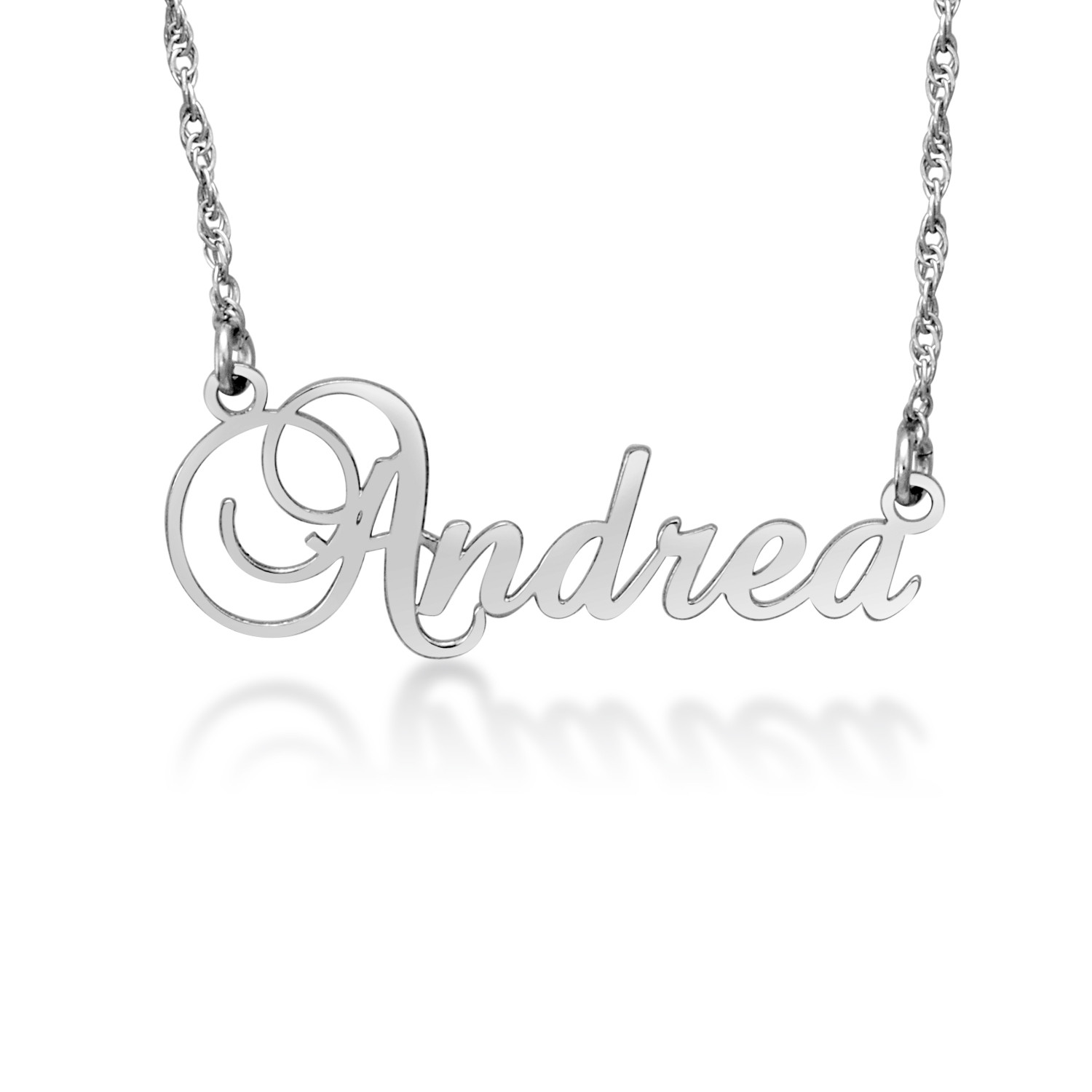 Script Name Necklace 1 Line Zales