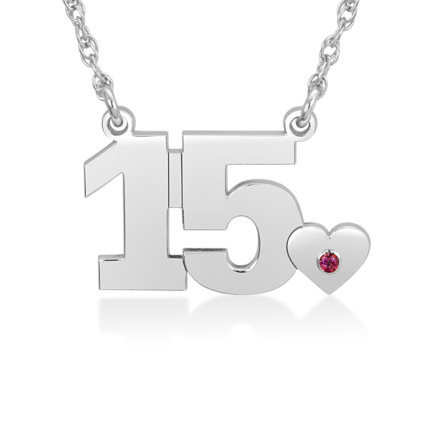 6fe949dc65 Birthstone and Number Necklace (1 Stone and 2 Digits) | Personalized  Necklaces | Create Your Own | Zales