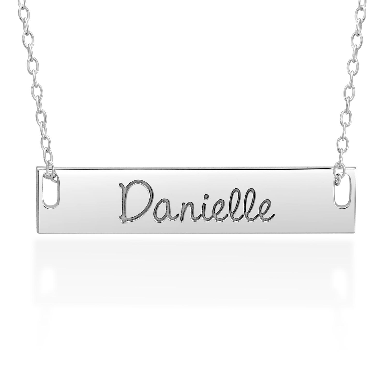 Engravable 32 0mm Nameplate Necklace (1 Line)|Zales