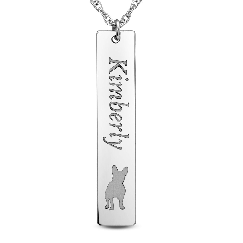 7.8 x 20mm Hi Polish Bar Pers Necklace